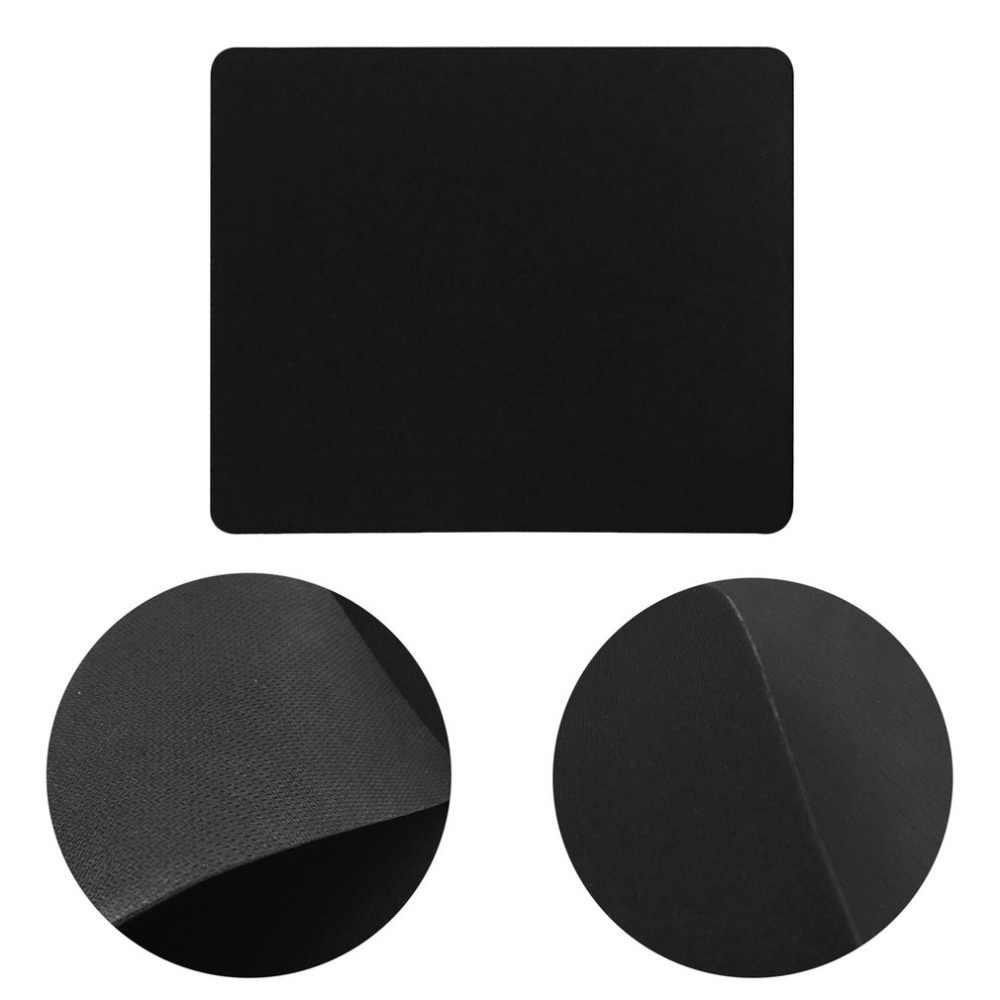 ドロップ無料 22*18 センチメートルユニバーサル黒スリム正方形ゲームマウスパッドマットマウスパッドラップトップコンピュータ、タブレット Pc pc 光学式マウスマット