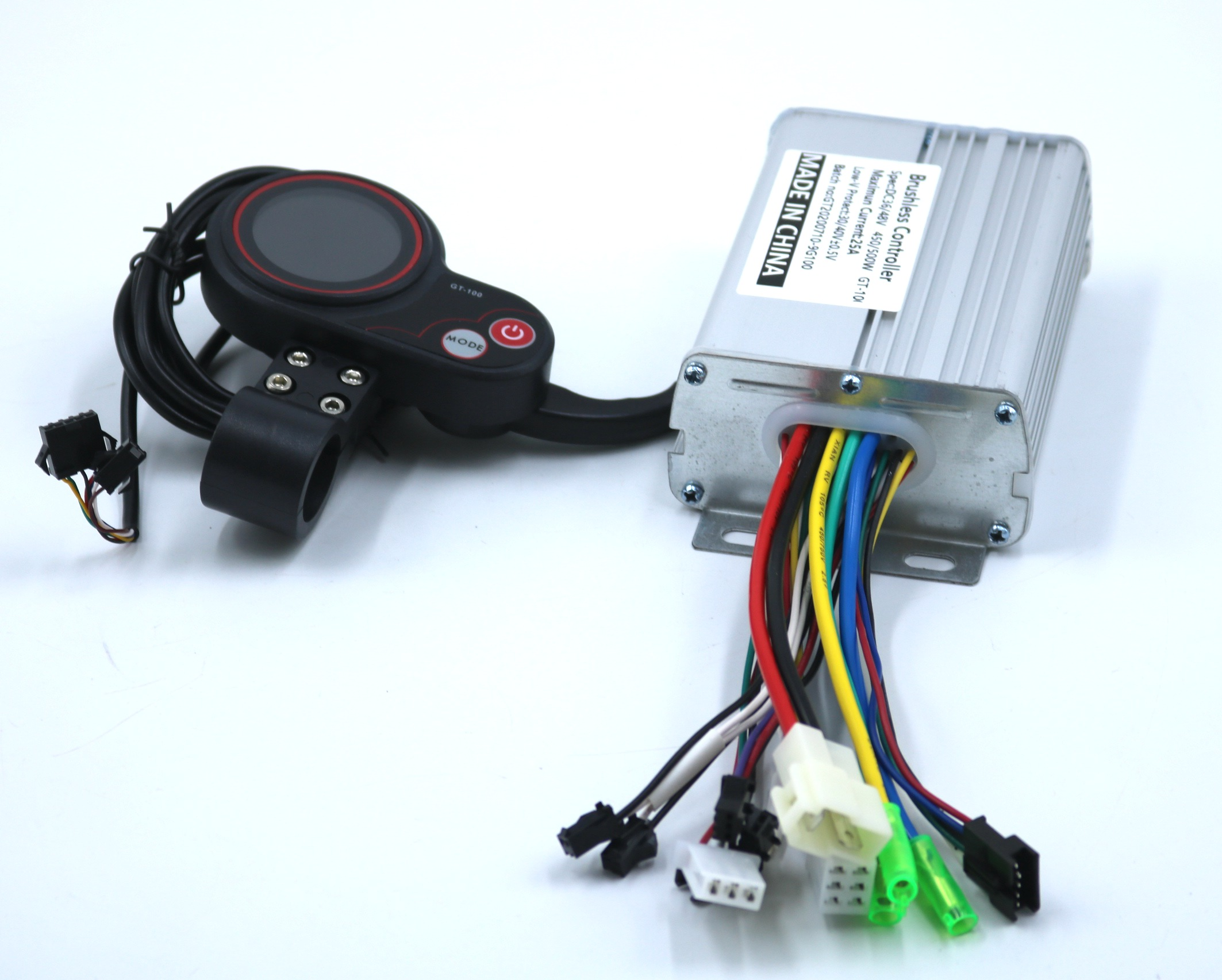 GREENTIME 36 فولت/48 فولت 500 واط 25A BLDC سكوتر كهربائي تحكم E-الدراجة فرش سرعة سائق و GT-100 شاشة الكريستال السائل مجموعة واحدة
