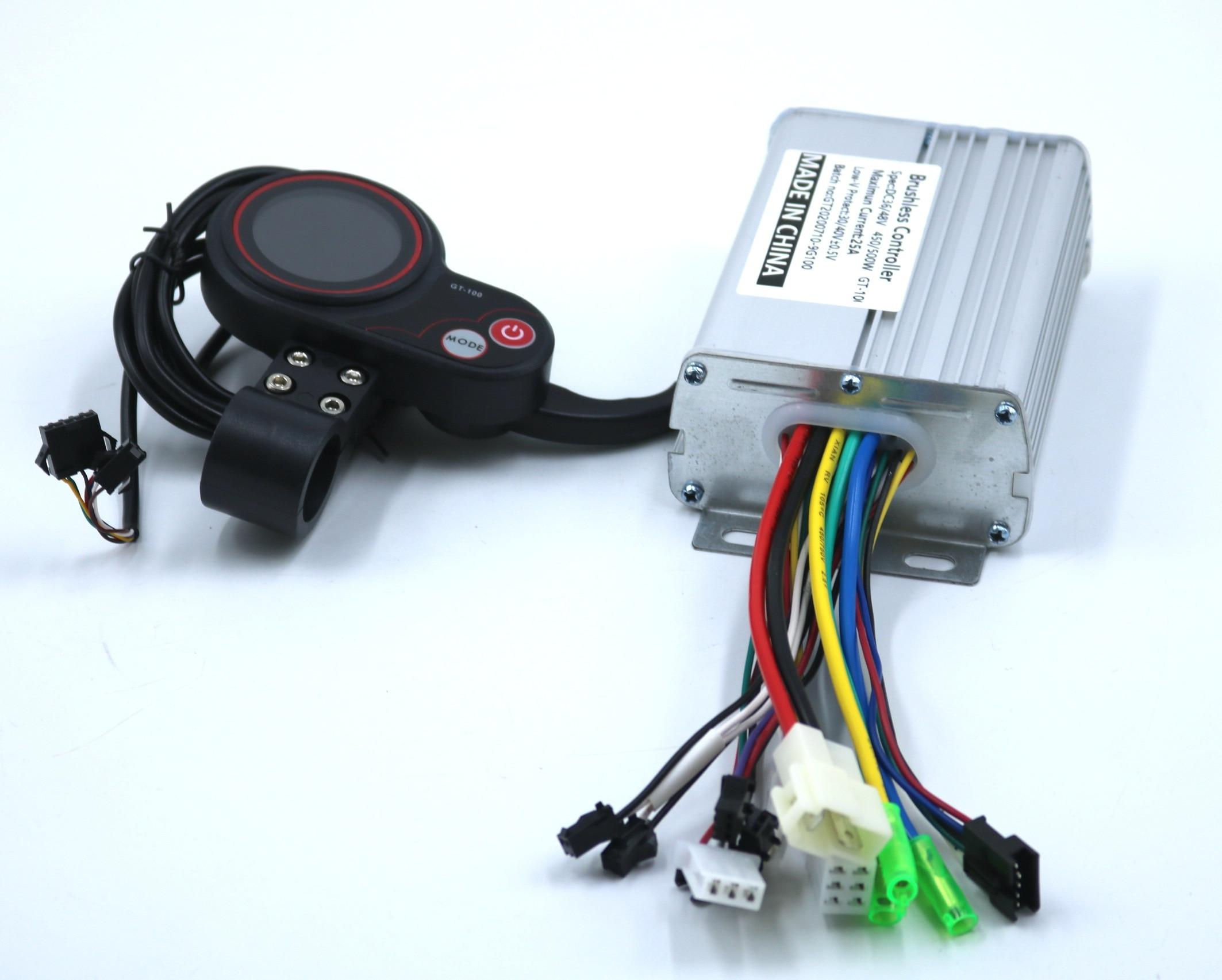 GREENTIME GREENTIME 36V/48V/52V/60V 500W 25A BLDC חשמלי קטנוע בקר E-אופני brushless נהג וחכם LCD תצוגת אחת סט