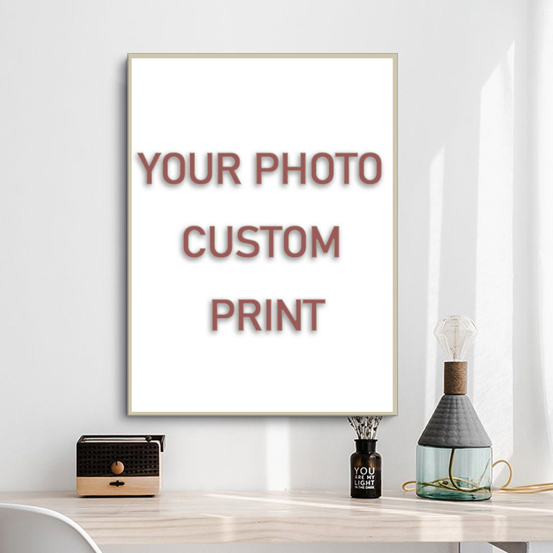 Custom Print Canvas Painting By Your Photo Canvas Poster Personal Gift Customize Figure Animal Pets Pictures Home Decor Prints