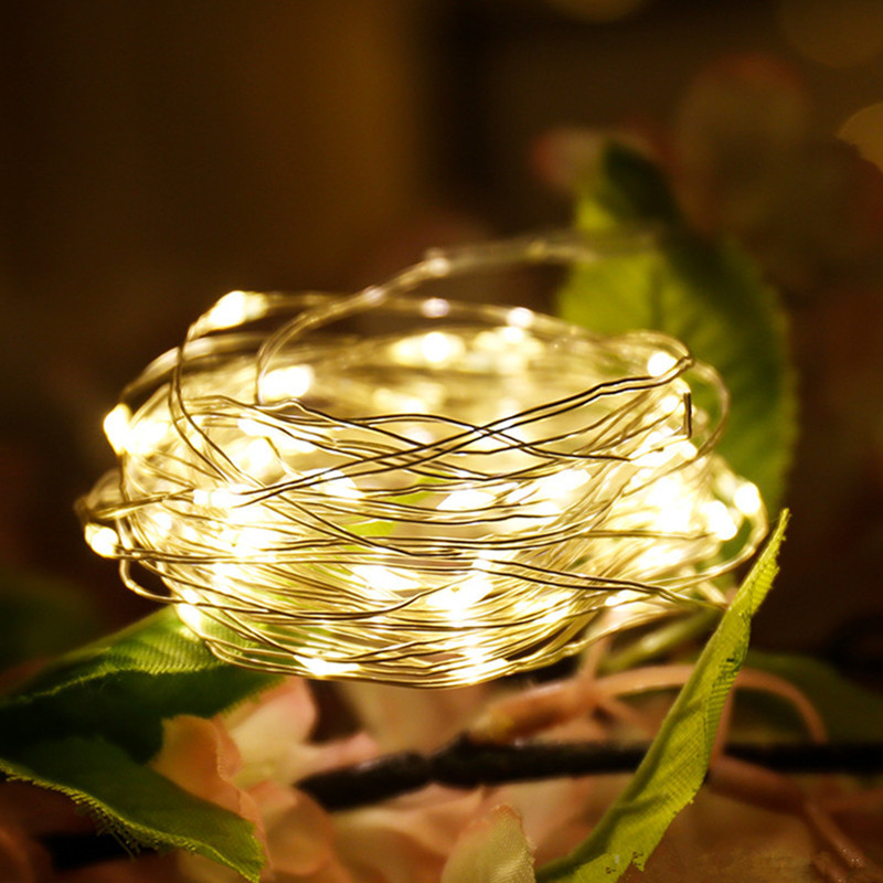 1M/2M/3M Battery Operated LED Copper Wire String Lights For Ramadan Decoration Party Wedding Decoration Home Decoration Lamp