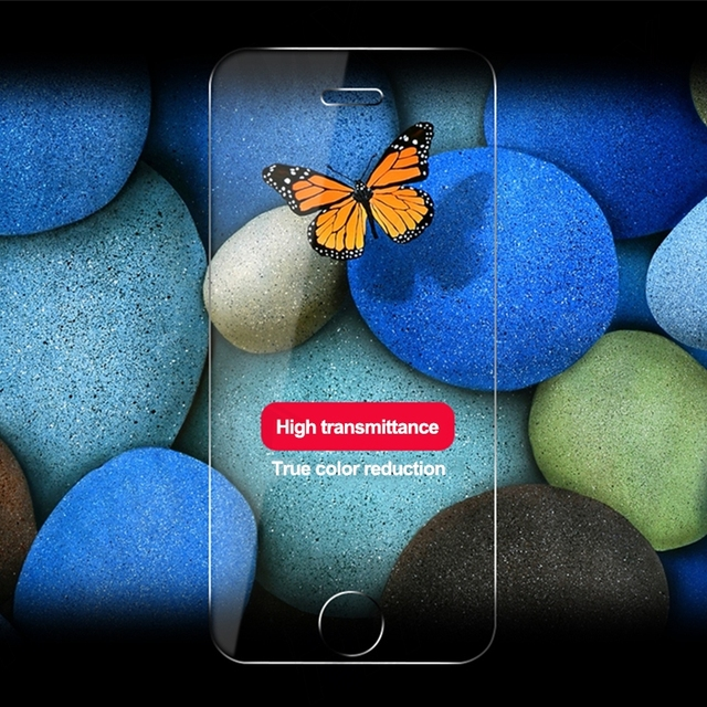 100D Transparent Tempered Glass For iPhone 7 8 6 6S Plus Glass Screen Protector On iPhone 5 5C 5S SE 2020 Glass Protective Film 4