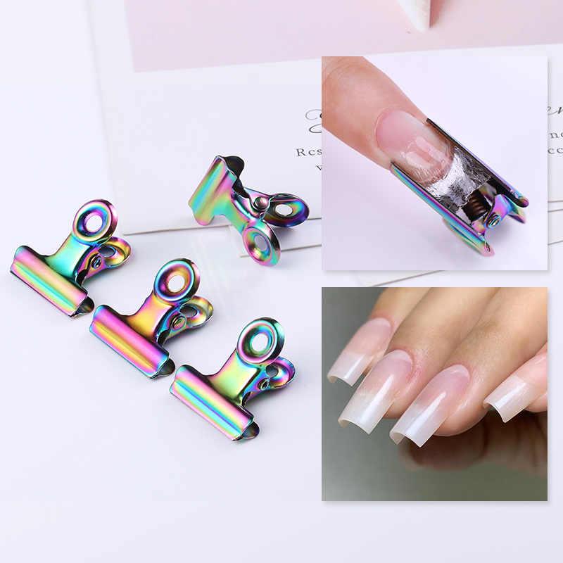 Quick Building Mold Nail Tips Natuurlijke Valse Nagel Tips Herbruikbare Glasvezel Nail Art UV Builder Poly UV Gel Manicure Nail art Tool