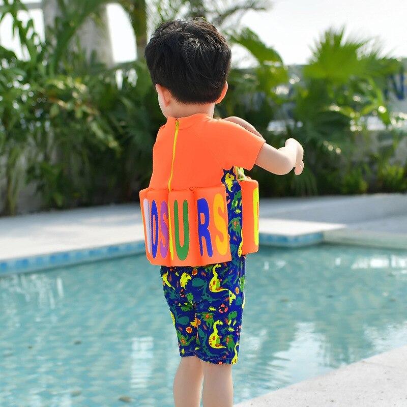 CHILDREN'S Buoyancy Swimsuit BOY'S Boy One-piece Cartoon Bubble Hot Spring Buoyancy Tour Bathing Suit Baby Infants Learn Swimmin