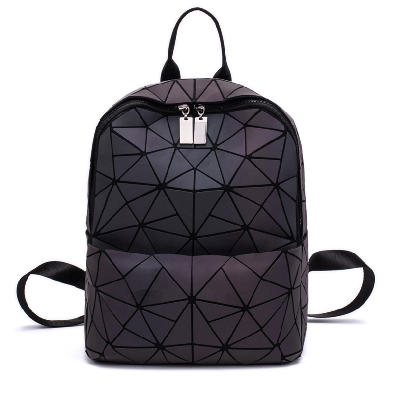 Litthing Daily Backpack Purse Folding-Bags Geometry Hologram Female New-Fashion Women