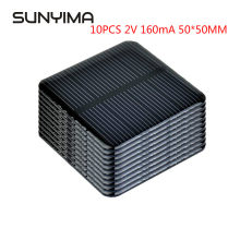 SUNYIMA 10PCS 2V 160mA 50*50MM Solar Panels DIY For Battery Cell Phone Chargers Monocrystalline Silicon Module For Camping