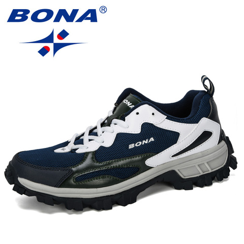 BONA 2019 New Designer Outdoor Men Cow Split Hiking Shoes Men Sport Shoes Trainers Shoes For Men Training Jogging Sneakers Shoes Islamabad