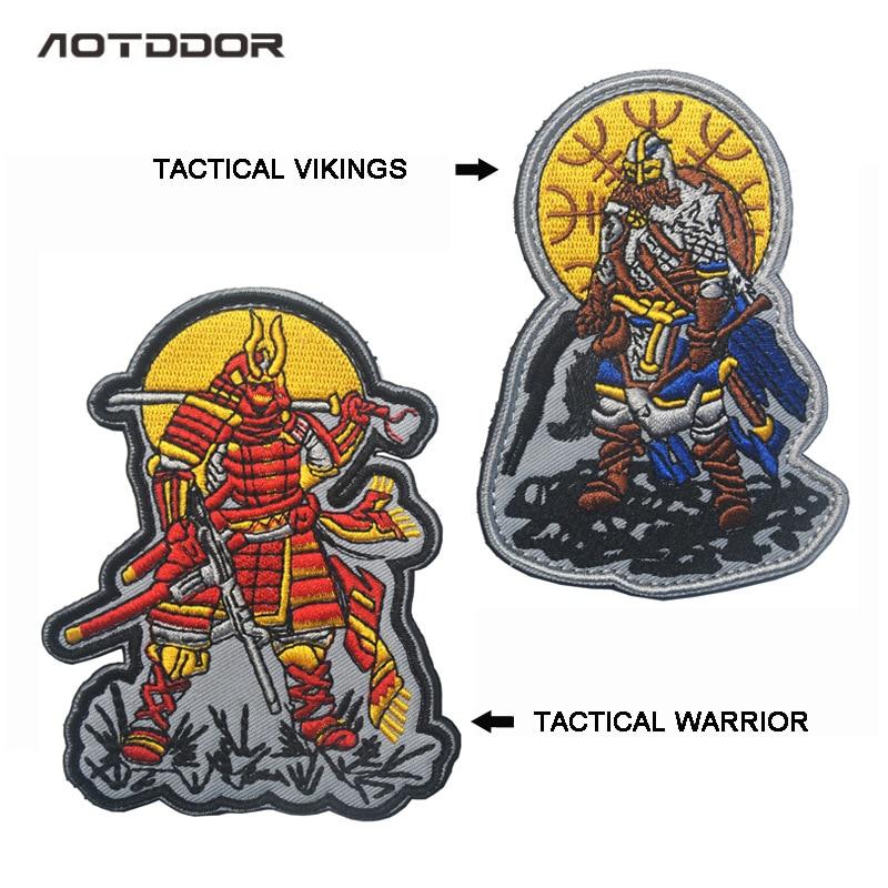 Bag With Supplies Tactical Samurai Tactical Vikings Viking Shoulder Emblem Badge Velcro