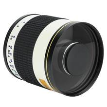 Durable 500mm f/6.3 Telephoto Mirror Lens for Mirrorless Camera White New(China)