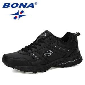Image 4 - BONA 2019 New Arrival Cow Split Tênis Homem Não Deslizamento Respirável Calçados Esportivos Zapatos Homens Ao Ar Livre Tênis de Corrida calçado