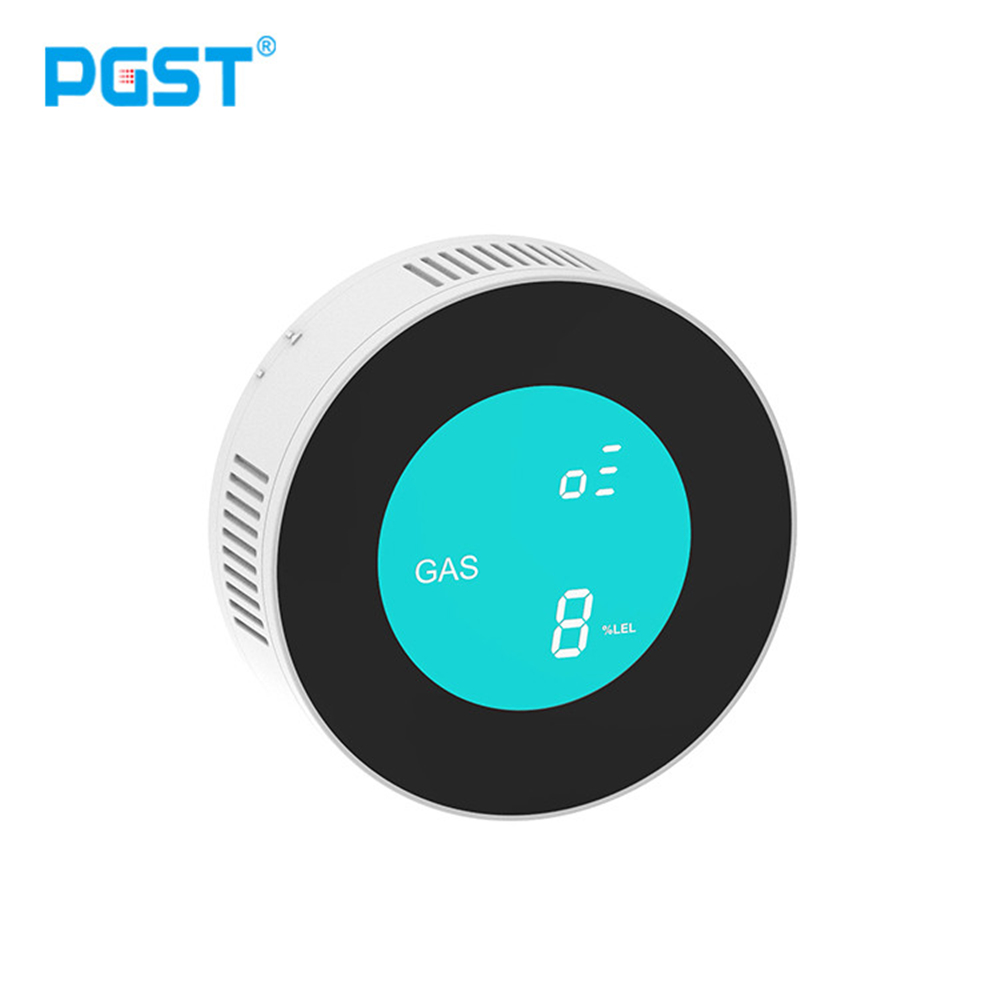 PGST Security-Smart APP WIFI Control Inform Combustible Gas Leak Detector LCD Display Household Smart Natural Gas Alarm Sensor