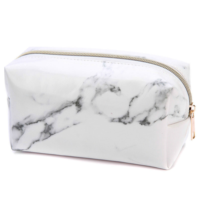 Marble Pencil Case Quality PU Leather School Supplies Stationery Girls Boy Gift Pencilcase Cute Pencil Box