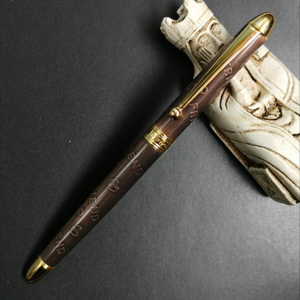 Old Stock YY Fountain Pen Ink Pen Aerometric Pen Bronze Color 2005S Stationery Office School Supplies