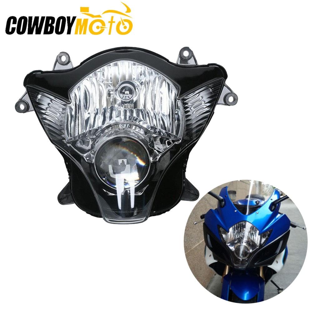 Motorcycle Clear Lens Front Light Headlight Headlamp Assembly Kit For Suzuki GSXR600 GSXR750 GSXR GSX-R 600 750 2006 2007 K6 K7