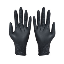 100Pcs Disposable Black Gloves Household Cleaning Washing Gloves Nitrile Laboratory Nail Art Medical Anti-Static Gloves new 100pcs 12 disposable white nitrile gloves anti static oil proof safety gloves s m l size for medical use tattoo