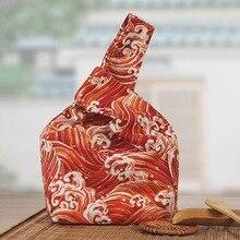 Purses Handbags Wrist-Bag Top-Handle Knot Japanese Mini Women Waterproof Portable Key-Pouch