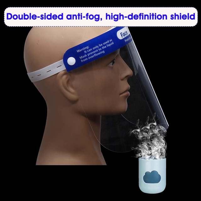 5/10/15/20x Adjustable Face Shield Mask Protection Anti-droplets Face Shield Isolation Lens Visor Anti Saliva Bacteria-proof 1