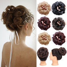Synthetic-Chignon Hair-Bun Hairpieces-Extensions Scrunchie Short Elastic-Band Messy