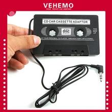 Vehemo Кассетный адаптер музыкальный адаптер Лента в форме кассеты AUX CD MD конвертер Черный 3,5 мм разъем Smart Премиум качество