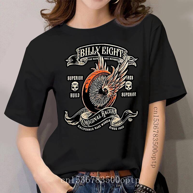 ORIGINAL RACER - Billy Eight- women T-Shirt - Black - Biker Rock-a-billy USA