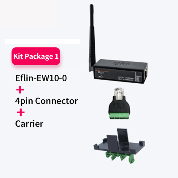 TPC IP Function RJ45 RS232 To WIFI Serial Server Wireless Networking Devices Modbus  Elfin-EW10 / Elfin-EW10-0