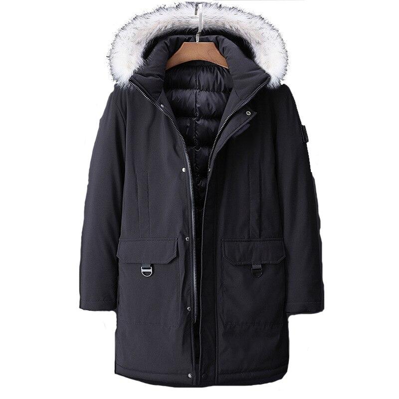 -30 C FIT Plus Thick Velvet Down & Parka Coat 6XL 7XL 8XL 9XL 10XL 2019 Brand Keep Warm Winter Jacket Men's Windbreaker