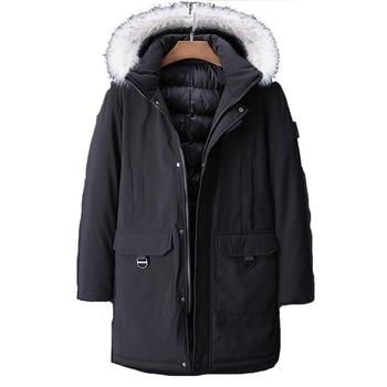 -30 C FIT Plus Thick Velvet Down & Parka Coat 6XL 7XL 8XL 9XL 10XL 2020 Brand Keep Warm Winter Jacket Men's Windbreaker