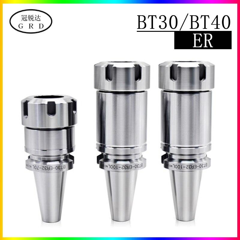 CNC Machine Tool Spindle Tool Shank BT30 BT40 ER11 ER16 ER20 ER32 ER40 Tool Holder 70L 100L For CNC Milling Machine Tool Holder
