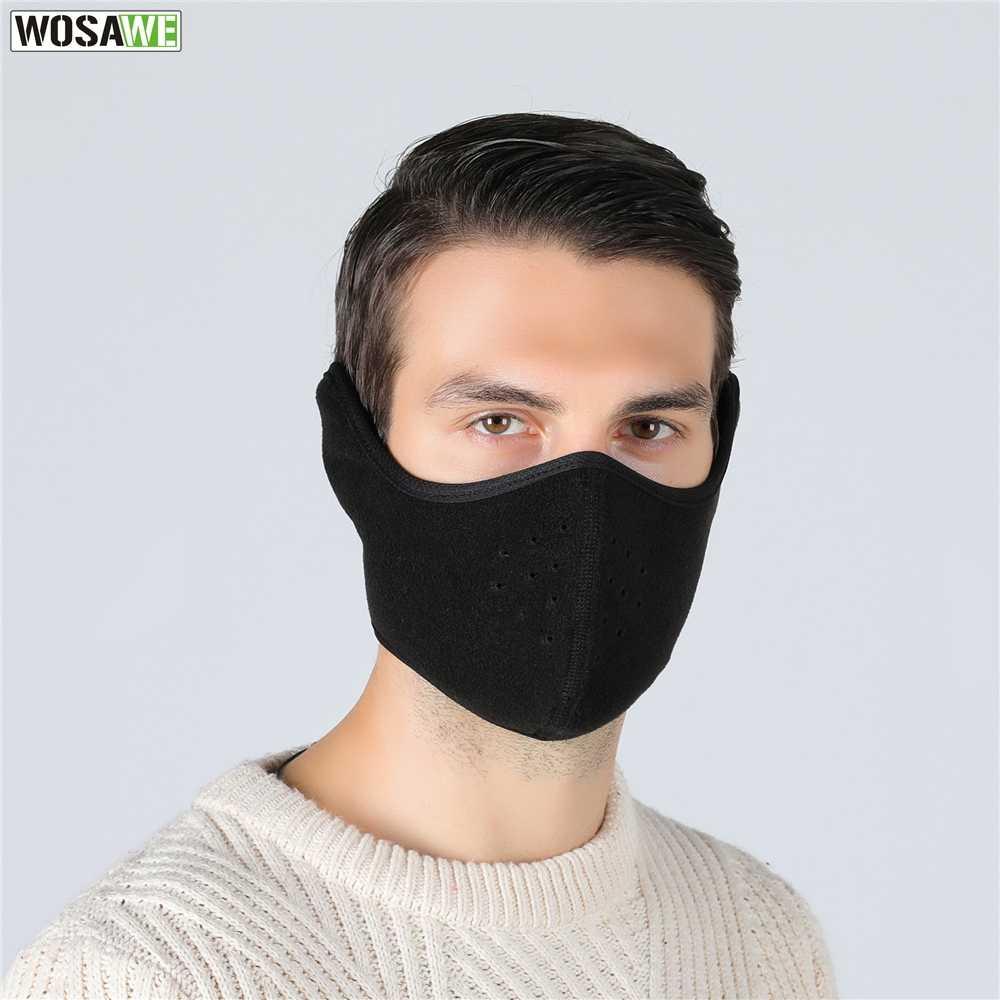 WOSAWE moto hiver bouclier thermique garder au chaud Protection du visage coupe-vent Motocross ski patinage Snowboard masque facial
