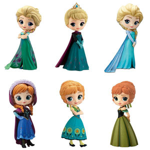 Hot Q Posket Queen Elsa & Anna Figure Toys Dolls Aurore PVC Anime Dolls Figures Collectible Model Kids Toys(China)