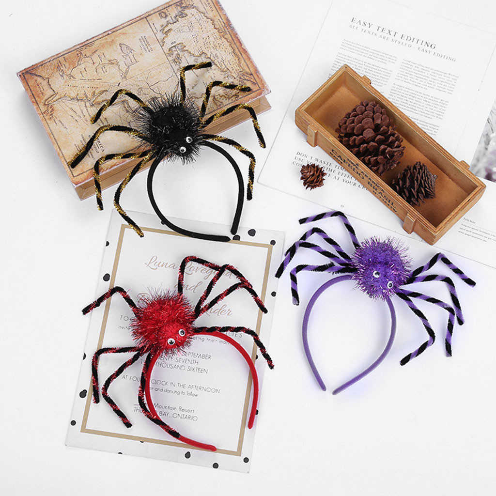 Colorful Spider Headbands For Teens Halloween Costume Accessories Novelty Insect Hair Bands Children Dress Up Party Supplies 830
