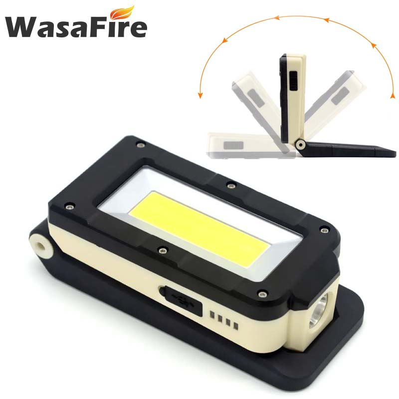 Wasafire COB Folding Working Light With Magnet Hook Multi-function Lamp Charging Dimming Light For Camping Outdoors Car Repair