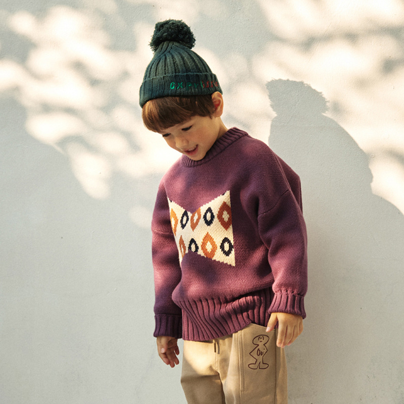 Kids Clothes Sets 2021 New Autumn Winter Long Sleeve Sweater Boys Knitted Pants Baby Girls Clothing Jacket Thanksgiving Outfits 6