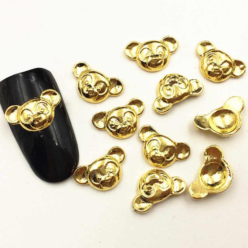 50 ピース/パック日本 3D ネイルアートの装飾金属かわいい花のスターのスタイルネイルアクセサリー合金爪部品 Diy ネイル用品