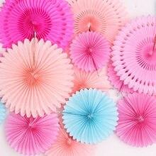 Polegada 15 6 cm Ofícios de Papel de Suspensão Da Flor Leques De Papel Tecido Pinwheels Festivo Do Partido & Do Feriado do Dia Das Bruxas Natal Decorações DIY