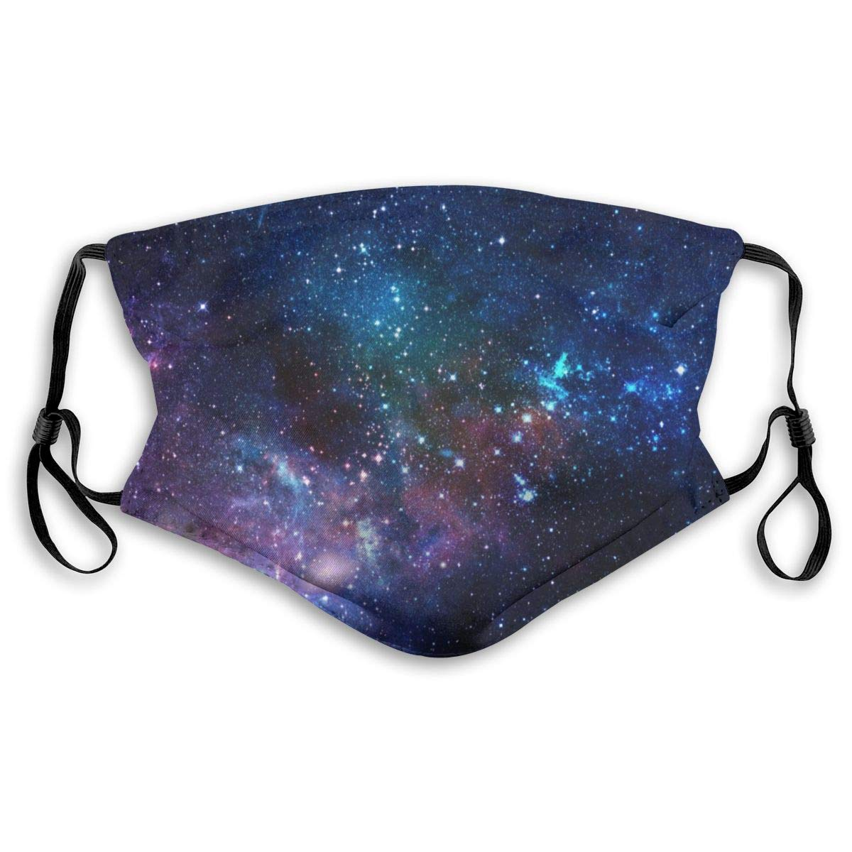 Outer Space Galaxy Stary Washable Reusable Mask, Anti Dust Half Face Mouth Mask For Kids Teens Men Women With Adjustable Ear