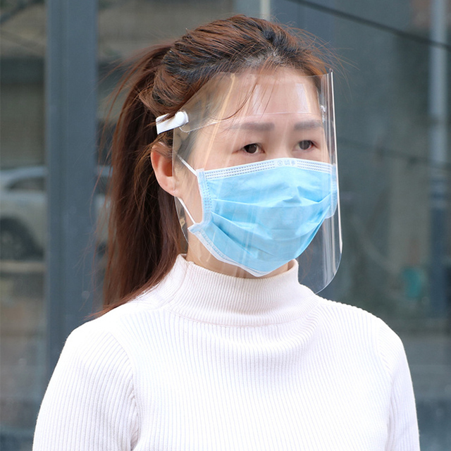 Anti Virus Full Face Shield Covering Mask Transparent Anti Droplet Saliva Dust-proof Influenza Flu Protection Anti-fog Visor 1