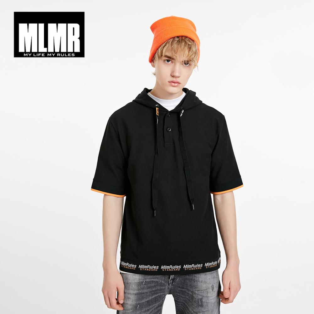 JackJones MLMR Men's Hooded With Drawstring Printed Turn-down Collar Polo Shirt|Streetwear 219106529