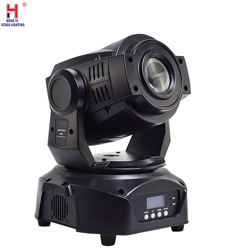 DJ Lights 90W Led Moving Head Spot Light DMX 512 Control Led Beam Gobos Stage Light With 3 Face Prism Disco Party Light
