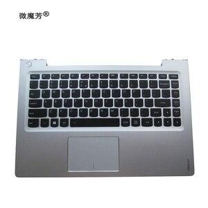 English NEW laptop keyboard For Lenovo U330p U330 U330T keyboard with silver case Palmrest Touchpad US