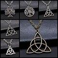 Амулет на удачу, символ трикветры, ювелирные изделия, подарок, мужское ожерелье с подвеской в виде черного ирландского трекветра