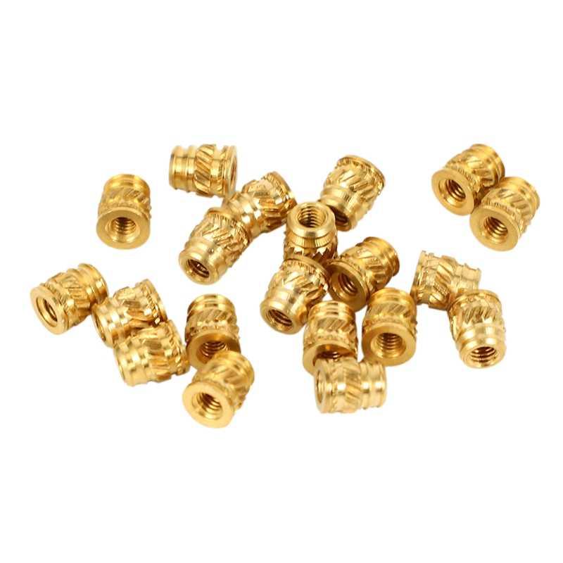 20pcs//Set M3-0.5 Brass Threaded Metal  Heat Screw Inserts Kit For 3D Print Long