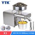 YTK Ölpresse Automatische Haushalts Leinsamen Öl Extractor Erdnussöl Presse Kalte Presse Öl Maschine 1500W (MAX)