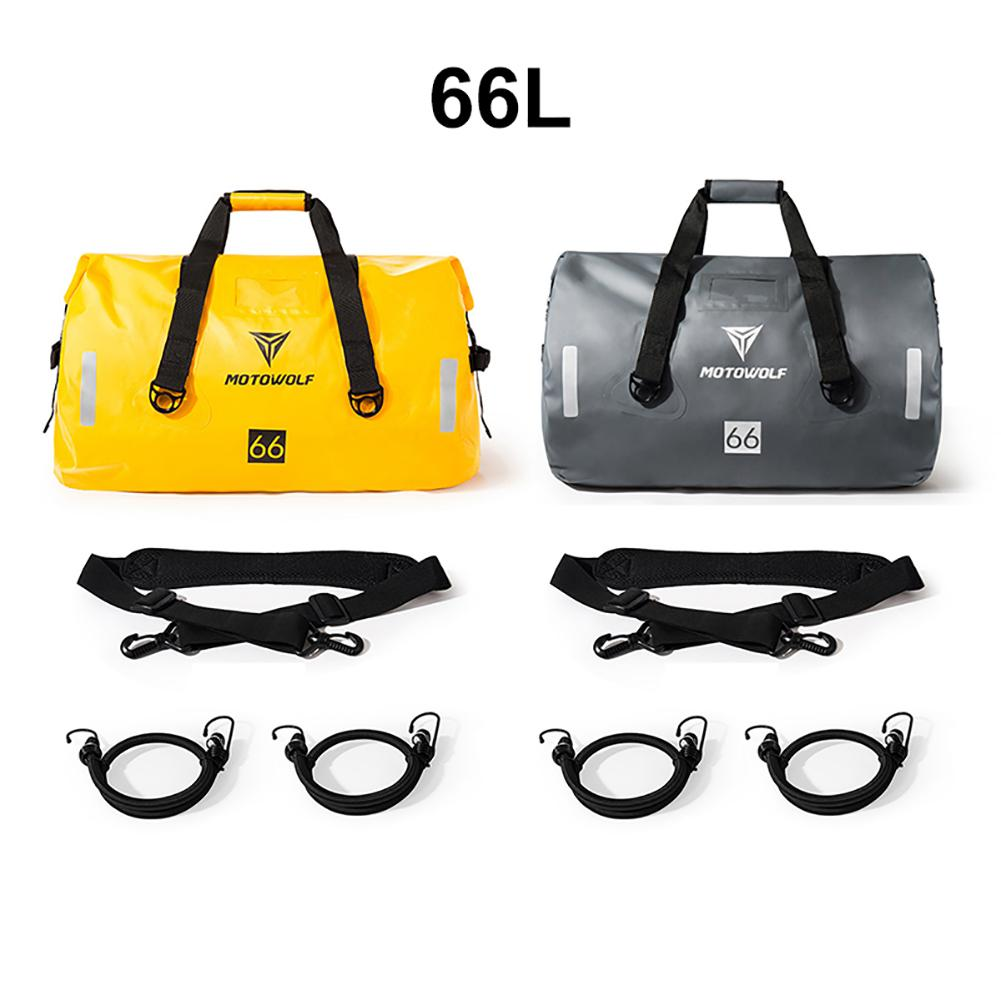 66L Motorcycle Car Bag Long-distance Cycling Waterproof Storage Pack Outdoor Travel Large Capacity Bags Yellow/Gray