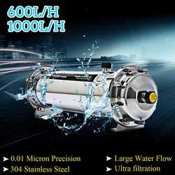 600л/1000л 304 фильтр для воды из нержавеющей стали ультрафильтрационный очиститель воды Коммерческая домашняя кухня напиток прямые УФ фильтры