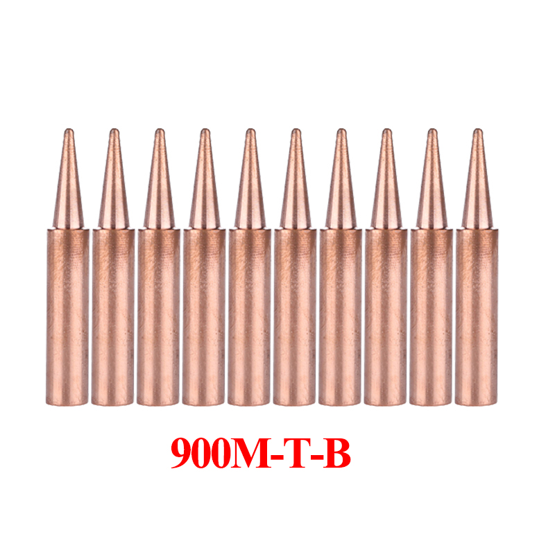 10Pcs/lot Pure Copper Electrical Soldering Tips 900M-T-B Solder Tip BGA Station Rework Tools