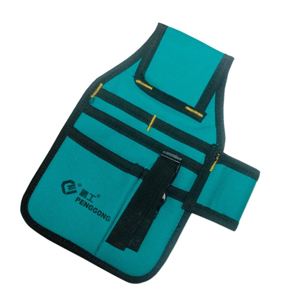 Hardware Toolkit Machinist Waist Bag Waterproof Oxford Cloth Multi Organize Pockets Storage Pouch No Belt Electrician