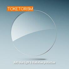 Toketorism 抗青色光レンズ樹脂非球面眼鏡レンズ処方コンピュータメガネ