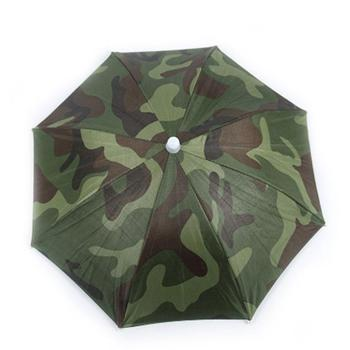 Portable Rain Umbrella Hat Army Green Foldable Outdoor Pesca Sun Shade Waterproof Camping Fishing Headwear Cap Beach Head Hats 3