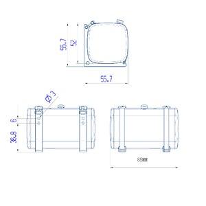Image 5 - LESU металлический 85 мм гидравлический топливный бак для самосвала 1/14 RC Tmy модель автомобиля DIY TH02473